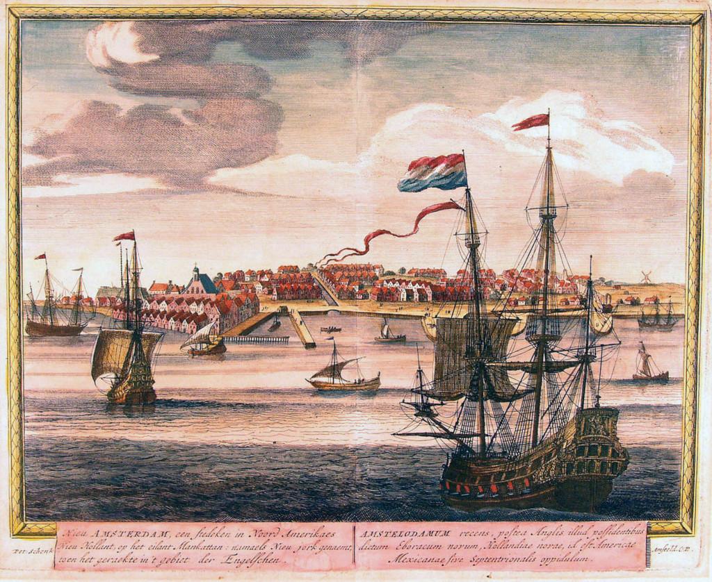 Корабль голландской компании у берегов Нового Амстердама, 1671 год. Из частной коллекции